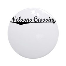 Nelsons Crossing, Vintage Round Ornament