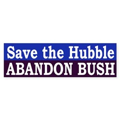 Save the Hubble: Abandon Bush (sticker)