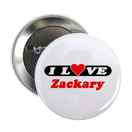 """I Love Zackary 2.25"""" Button (100 pack)"""