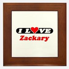 I Love Zackary Framed Tile