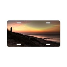 Spurn point sunrise with to Aluminum License Plate