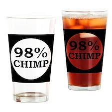 chimpbutton Drinking Glass