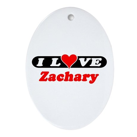 I Love Zachary Oval Ornament