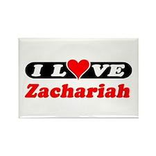 I Love Zachariah Rectangle Magnet