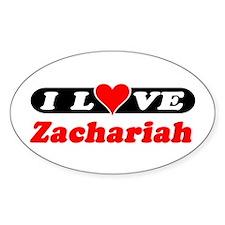 I Love Zachariah Oval Decal