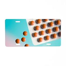 Pelargonium tablets Aluminum License Plate