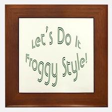 Do It Froggy Style Framed Tile
