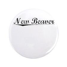 "New Beaver, Vintage 3.5"" Button"