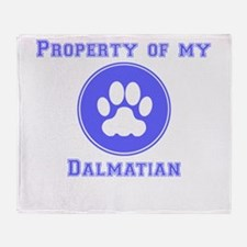 Property Of My Dalmatian Throw Blanket