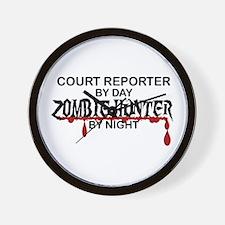 Zombie Hunter - Court Reporter Wall Clock