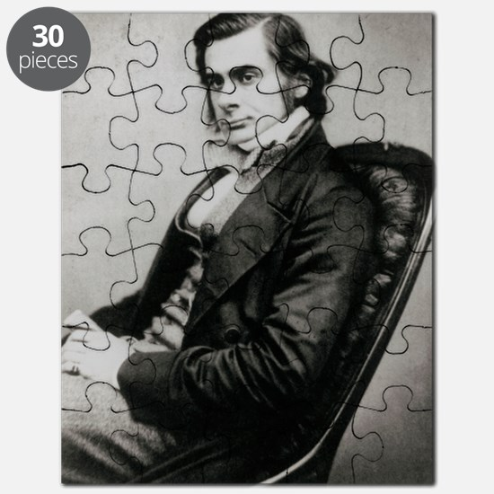 Photograph of biologist Thomas Huxley, in 1 Puzzle