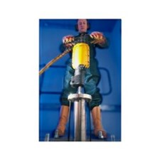 Pneumatic drill testing Rectangle Magnet