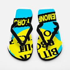 Lemon Party Flip Flops