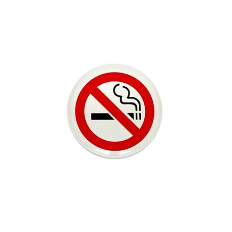 No Smoking Symbol Mini Button (100 pack)