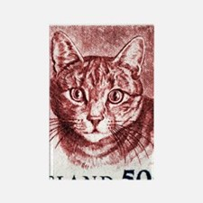 Iceland 1982 Domestic Cat Postage Rectangle Magnet