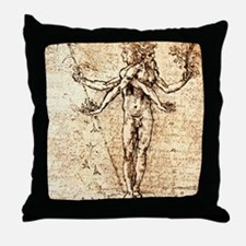 Pleasure and pain Throw Pillow