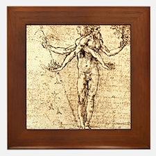 Pleasure and pain Framed Tile