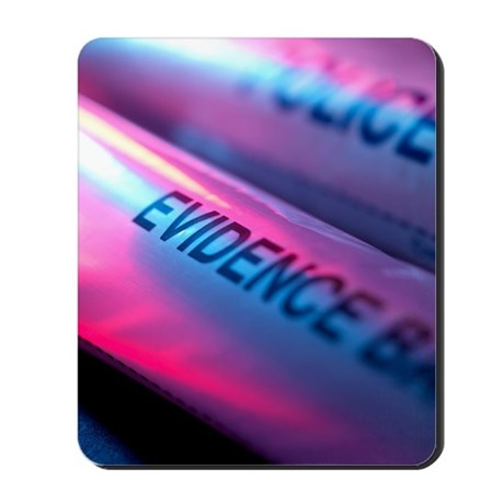 Police evidence bags Mousepad
