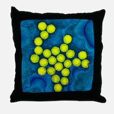 Polio viruses, TEM Throw Pillow