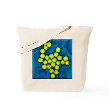 Polio viruses, TEM Tote Bag