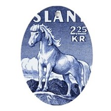 Iceland 1958 Icelandic Horse Postage Oval Ornament