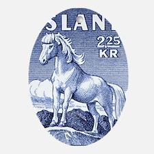 Iceland 1958 Icelandic Horse Postage Oval Ornament