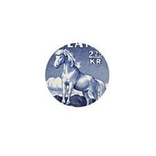 Iceland 1958 Icelandic Horse Postage S Mini Button