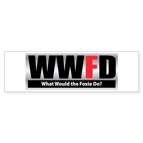 WW the Foxie D Bumper Sticker