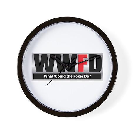 WW the Foxie D Wall Clock