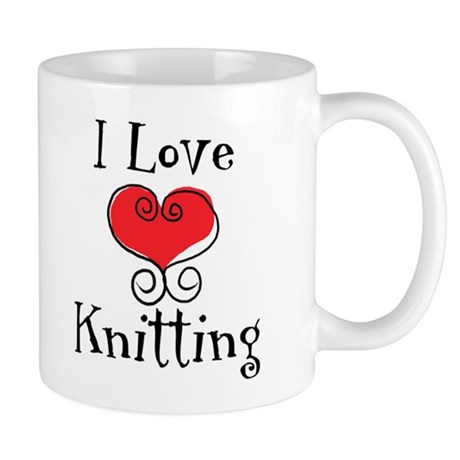 I Love (heart) Knitting Mug
