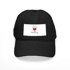 I Love (heart) Knitting Baseball Hat