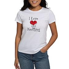 I Love (heart) Knitting Tee