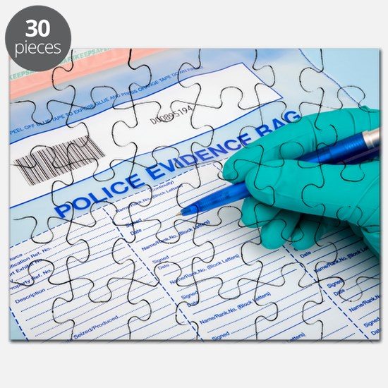 Police evidence bag Puzzle