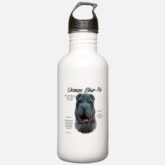 Shar-Pei (blue) Water Bottle