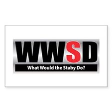 WW the Staby D Rectangle Decal