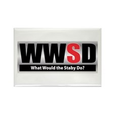 WW the Staby D Rectangle Magnet (100 pack)