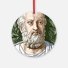 Plato, Ancient Greek philosopher Round Ornament