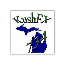 """KushFX Square Sticker 3"""" x 3"""""""