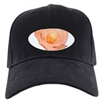 Peach Rose Black Cap