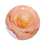 Peach Rose Ornament (Round)