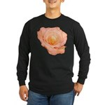 Peach Rose Long Sleeve Dark T-Shirt