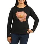 Peach Rose Women's Long Sleeve Dark T-Shirt