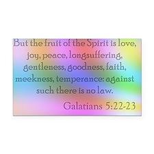 Galatians 5:22-23 Rectangle Car Magnet