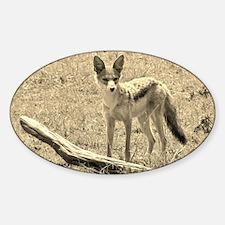 Scopey Jackal Sepia Sticker (Oval)