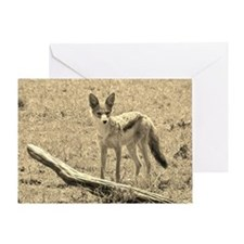 Scopey Jackal Sepia Greeting Card