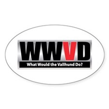 WW the Vallhund D Oval Decal