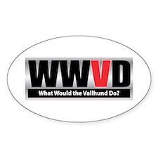 WW the Vallhund D Oval Stickers