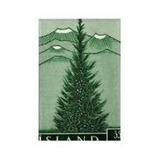 1957 Iceland Spruce with Volcanoe Rectangle Magnet