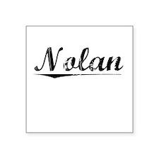 "Nolan, Vintage Square Sticker 3"" x 3"""