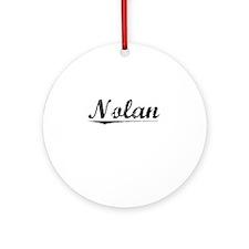 Nolan, Vintage Round Ornament
